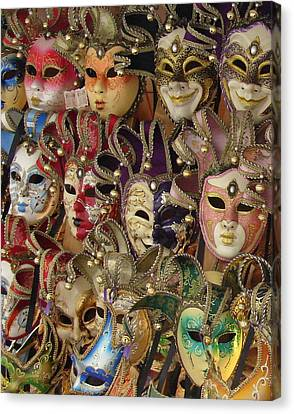 Canvas Print featuring the photograph Venetian Masks by Ramona Johnston