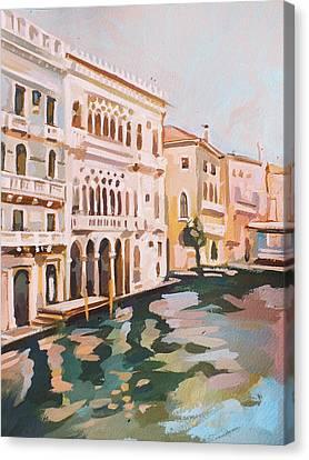 Venetian Palaces Canvas Print by Filip Mihail