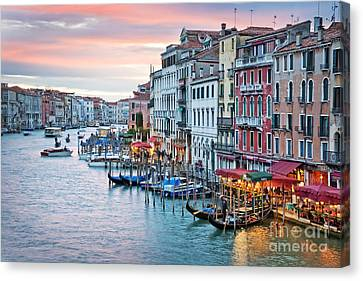 Venetian Sunset Canvas Print by Delphimages Photo Creations