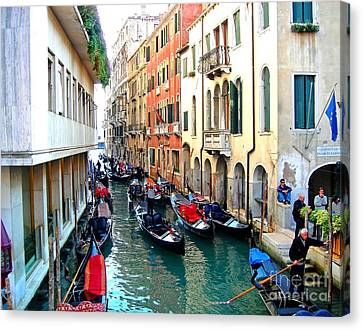 Venetian Traffic Jam Canvas Print