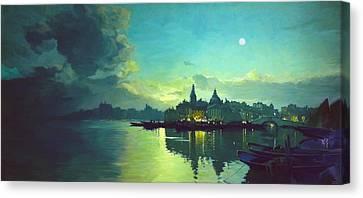 Venetian Twilight Canvas Print by Paul Tagliamonte