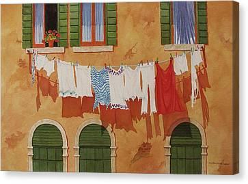 Venetian Washday Canvas Print