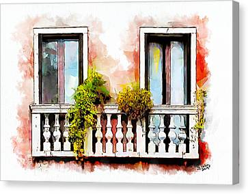 Venetian Windows 5 Canvas Print by Greg Collins