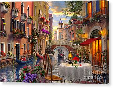 Building Canvas Print - Venice Al Fresco by Dominic Davison