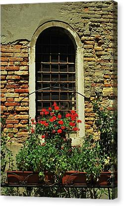 Venice Antique Window Canvas Print