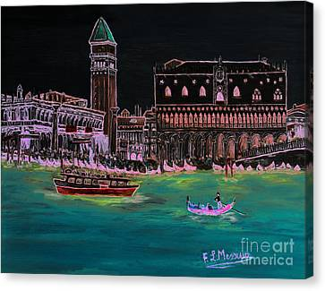 Venice At Night Canvas Print