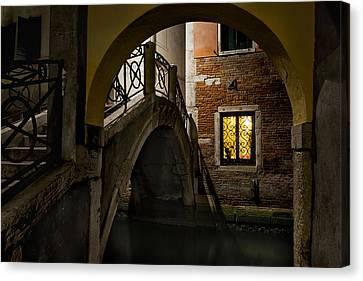 Venice At Night1 Canvas Print