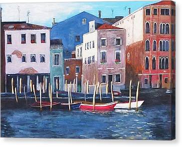 Venice Backwater Canvas Print by Nigel Radcliffe