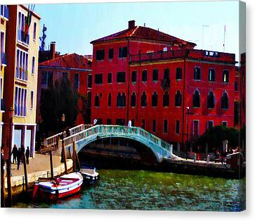Venice Bow Bridge Canvas Print by Bill Cannon