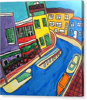 Venice Canvas Print by Artists With Autism Inc