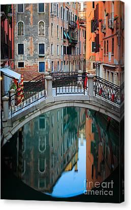 Venice Bridge Canvas Print by Inge Johnsson