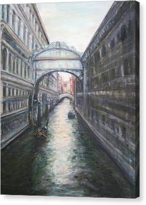 Venice Bridge Of Sighs - Original Oil Painting Canvas Print
