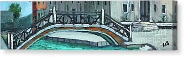 Venice Bridge Canvas Print by Rita Brown