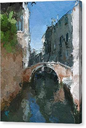 Apartment Canvas Print - Venice Bridge Two by Russell Pierce