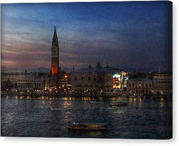 Canvas Print featuring the photograph Venice By Night by Hanny Heim