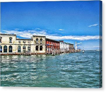 Venice By Sea Canvas Print by Oscar Alvarez Jr