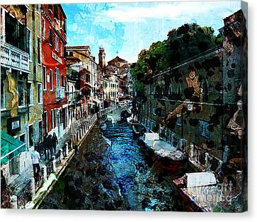 Venice Canal Canvas Print by Claire Bull