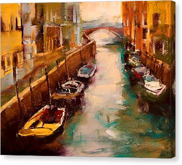 Venice Canal Canvas Print by David Patterson