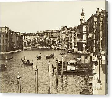 Venice Canal Grande Canvas Print by Underwood Archives