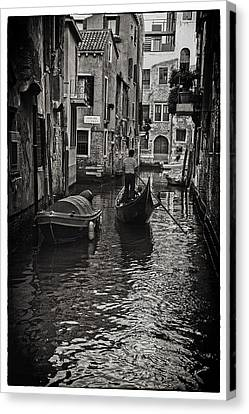 Tron Canvas Print - Venice Canal Memory by Madeline Ellis