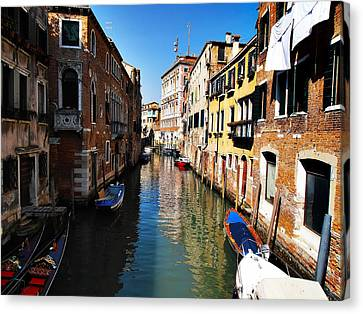 Venice Canal Canvas Print by Bill Cannon