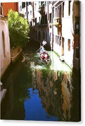 Venice Canal Canvas Print by Paul Tagliamonte