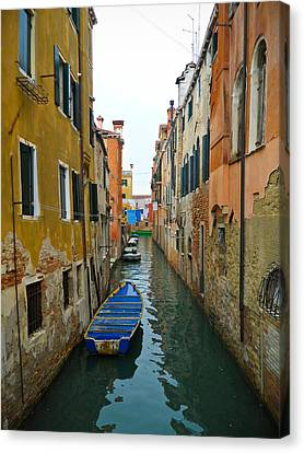 Canvas Print featuring the photograph Venice Canal by Silvia Bruno