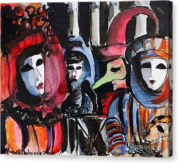 Venice Carnival 1 Canvas Print by Mona Edulesco