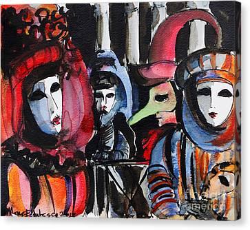 Mona Edulescu Canvas Print - Venice Carnival 1 by Mona Edulesco