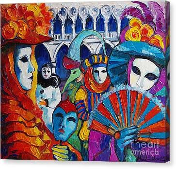 Venice Carnival Canvas Print by Mona Edulesco