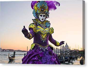 Venice Carnival Iv Canvas Print by Yuri Santin