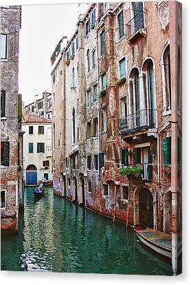 Venice City Of Water 2 Canvas Print by Julie Palencia
