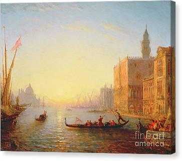 Venice Evening Canvas Print by Felix Ziem