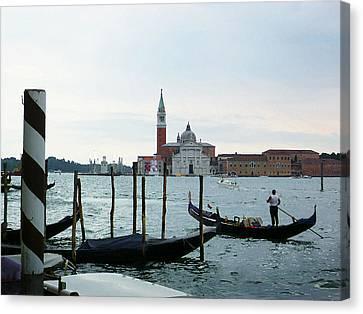 Venice Evening Last Gondola Ride Canvas Print by Irina Sztukowski
