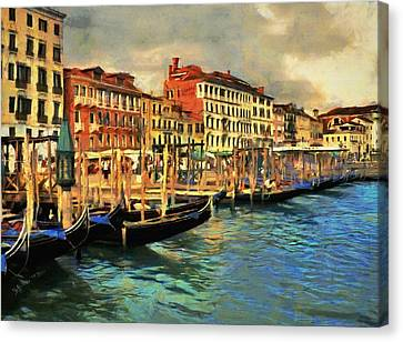 Venice From The Water Canvas Print by Jeff Kolker