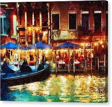 Italian Islands Canvas Print - Venice Glow by Mo T
