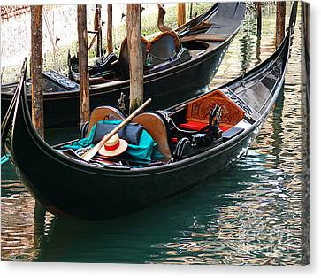 Canvas Print featuring the photograph Venice Gondola by Jeanne  Woods