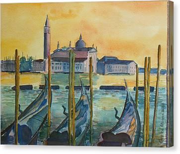 Venice Gondolas Canvas Print by Geeta Biswas
