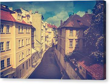 Venice In Prague Canvas Print by Taylan Apukovska