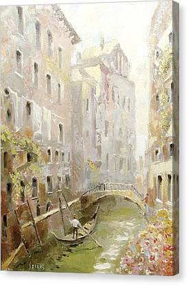 Canvas Print featuring the painting Venice In The Sunlight by Dmitry Spiros
