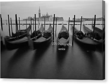 Venice In Winter Canvas Print by Peter Viteritti