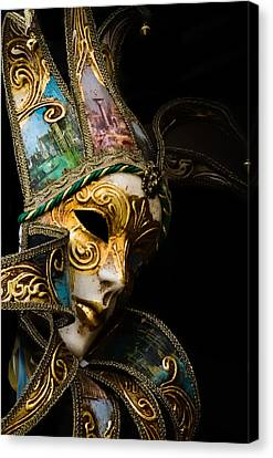 Venice Italy - Carnival Mask Canvas Print
