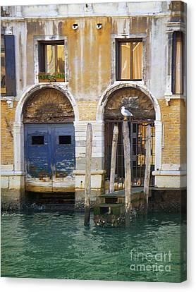 Venice Italy Double Boat Room Canvas Print