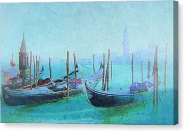 Venice Italy Gondolas With San Giorgio Maggiore Canvas Print