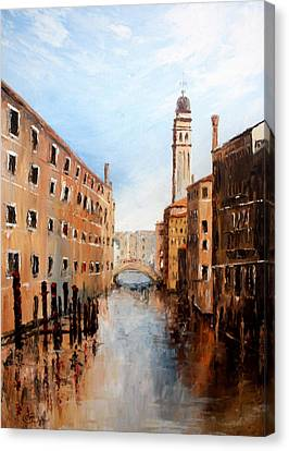 Canvas Print featuring the painting Venice Italy by Jean Walker
