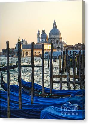 Venice Italy - Santa Maria Della Salute And Gondolas Canvas Print by Gregory Dyer