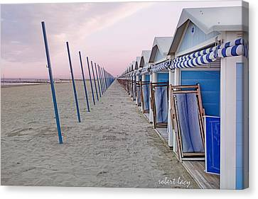 Venice Lido Canvas Print by Robert Lacy