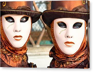 Venice Masks - Carnival. Canvas Print by Luciano Mortula