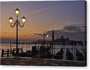 Venice Night Lights Canvas Print by Marion Galt