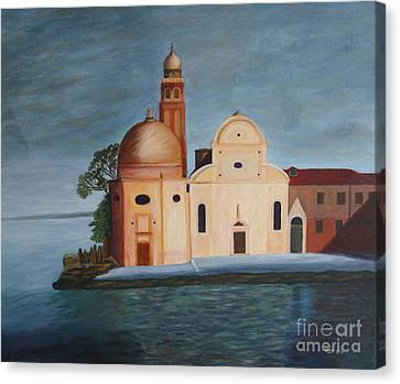Arcylic Canvas Print - Venice - Painting by Christiane Schulze Art And Photography